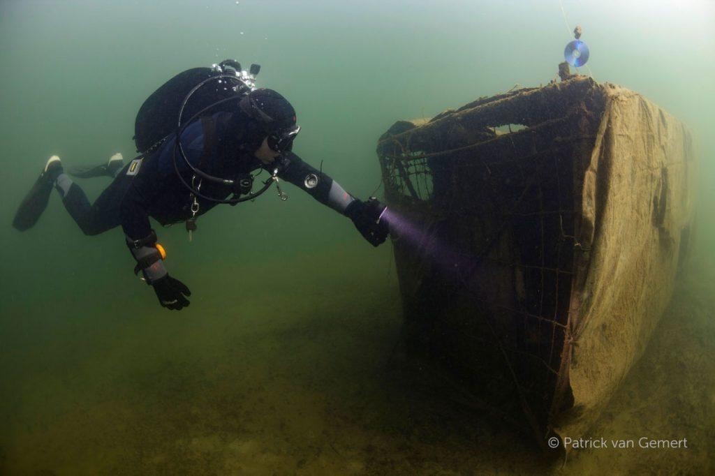 Bedekte kooi met duiker, Bronsbergen. © Patrick van Gemert